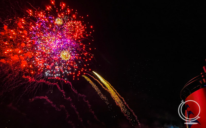 Fireworks off the Disney Dream