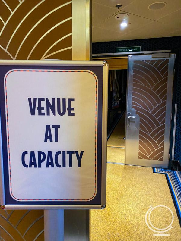 Venue at Capacity sign